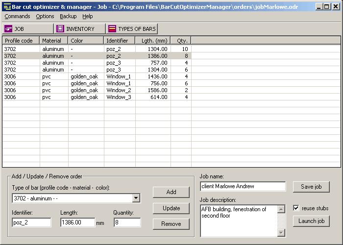 Bar Cut Optimizer & Manager